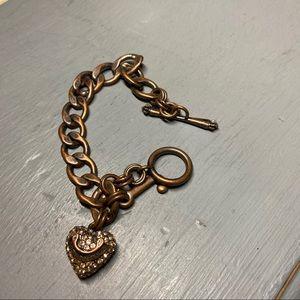 Juicy Couture Pave Heart Charm Bracelet